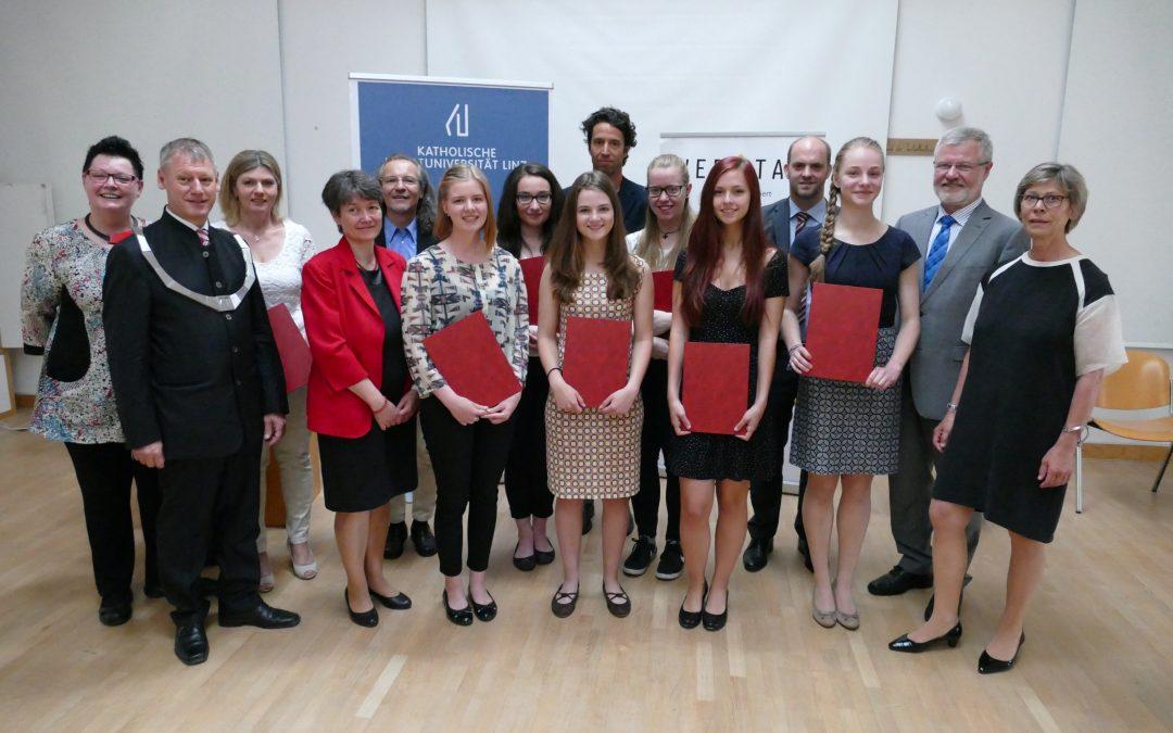 KUL-Preis für hervorragende Arbeiten von SchülerInnen