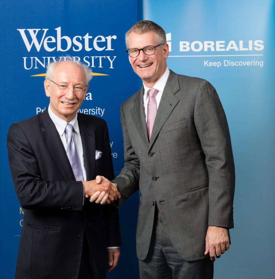 Borealis sponsert Stipendien für Spitzenleistungen an der Webster University