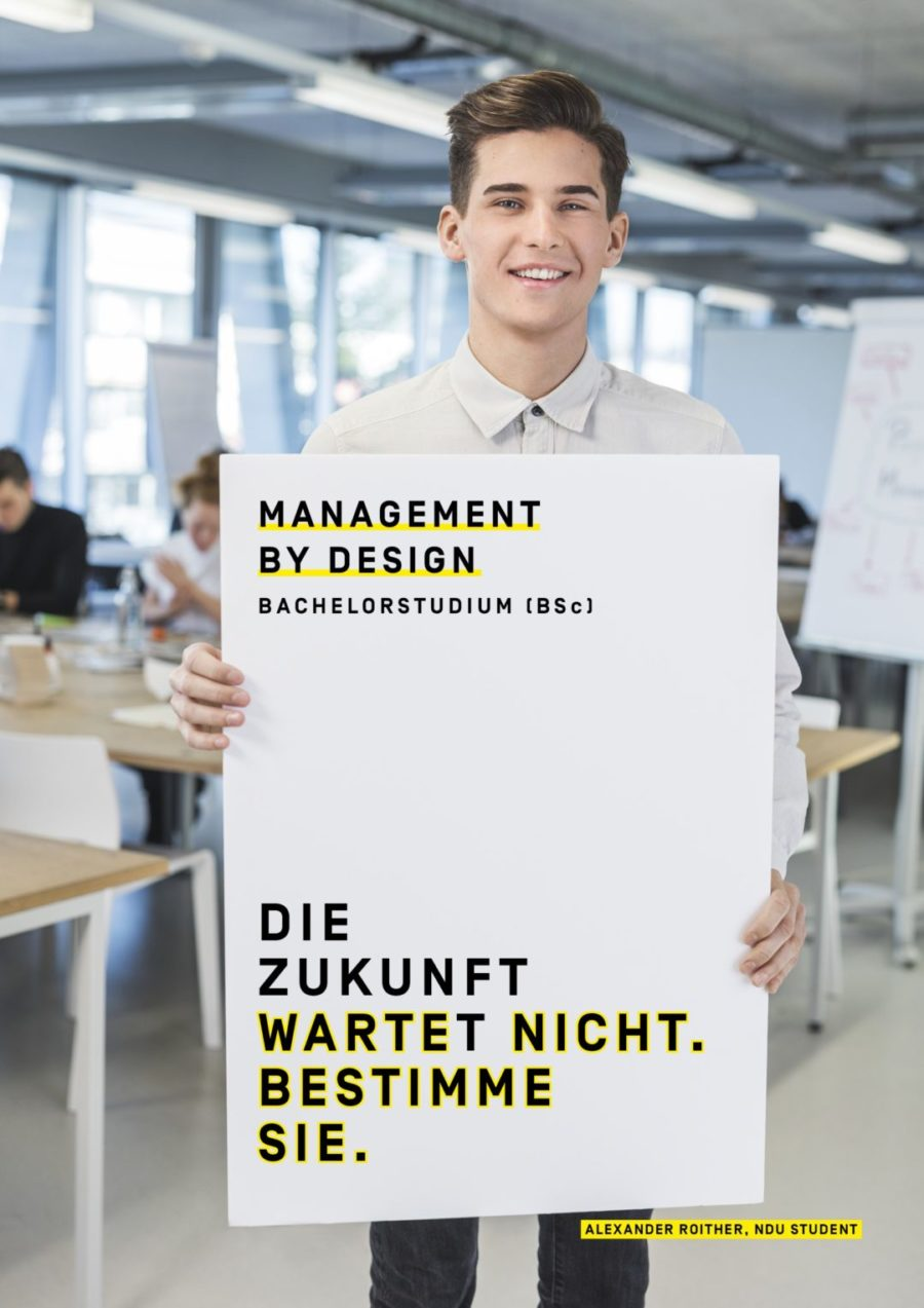 Neues Bachelorstudium: Management by Design