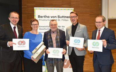 Bertha von Suttner Privatuniversität erfolgreich akkreditiert: Infotermin am 10. Jänner
