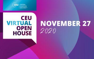 27. November: Virtual Open House an der CEU