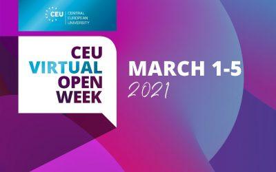 Virtual Open Week an der CEU: 1.-5. März